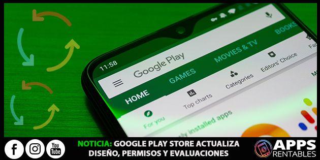 Actualizaciones recientes de Google Play Store