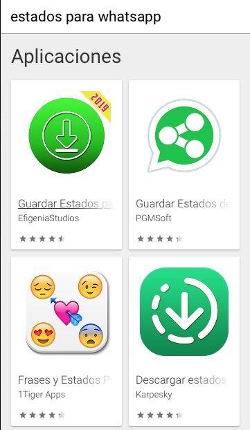 ejemplos de apps de estados para whatsapp