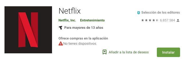 Ejemplo App de Netflix sin palabras clave en el titulo