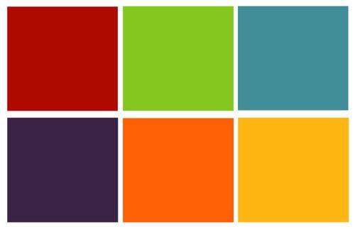 combinación de colores simples