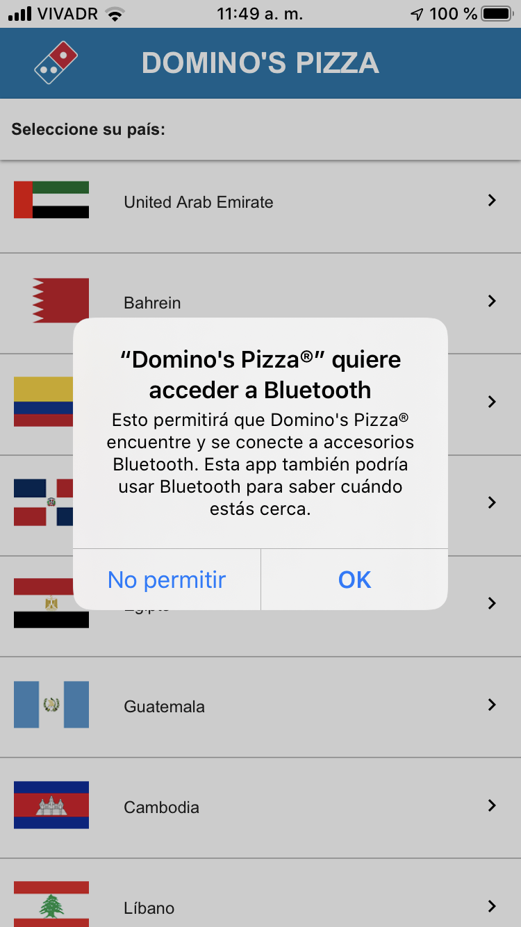 Acceder a bluetooth iOS 13
