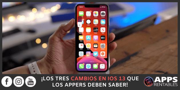 Cambios más importantes de iOS 13