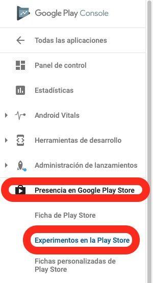 Cómo agregar un nuevo experimento en google Play
